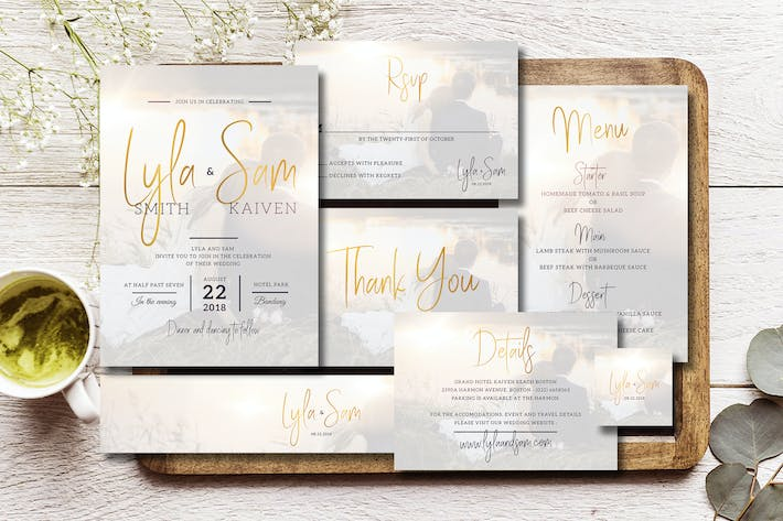 Cover Image For Simple Wedding Invitation Suite