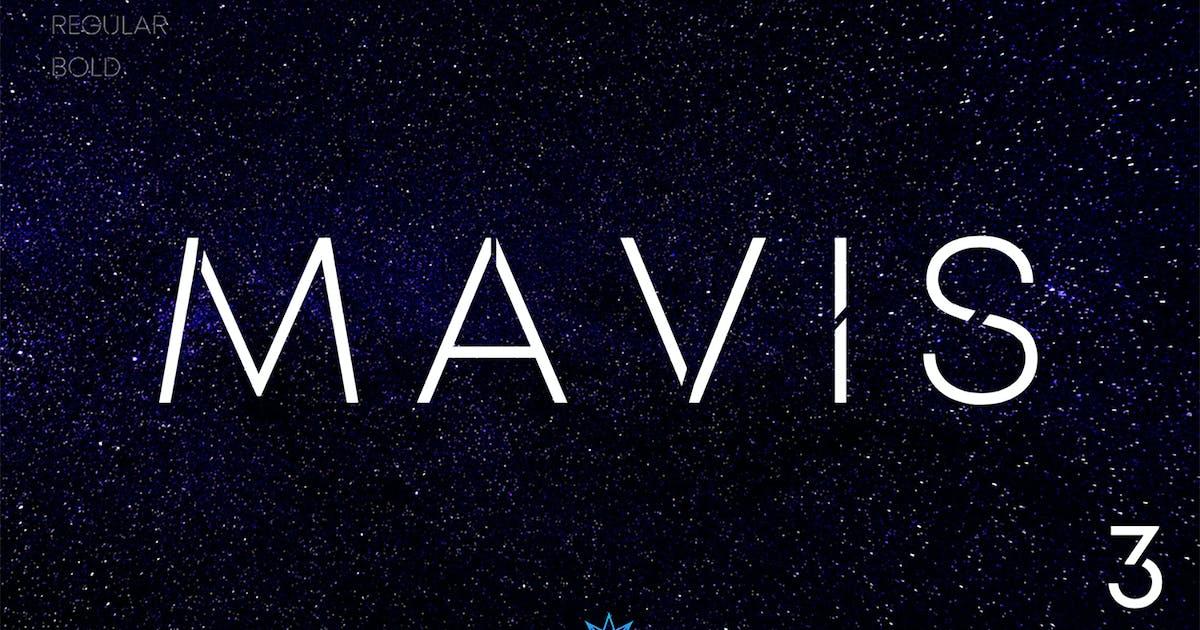 Download MAVIS SANS - FUTURISTIC TYPEFACE by NEWFLIX