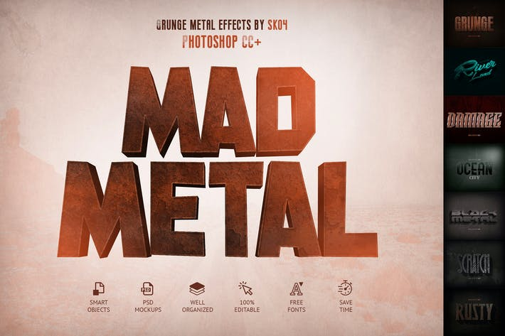 Thumbnail for Mad Metal — Effets de texte