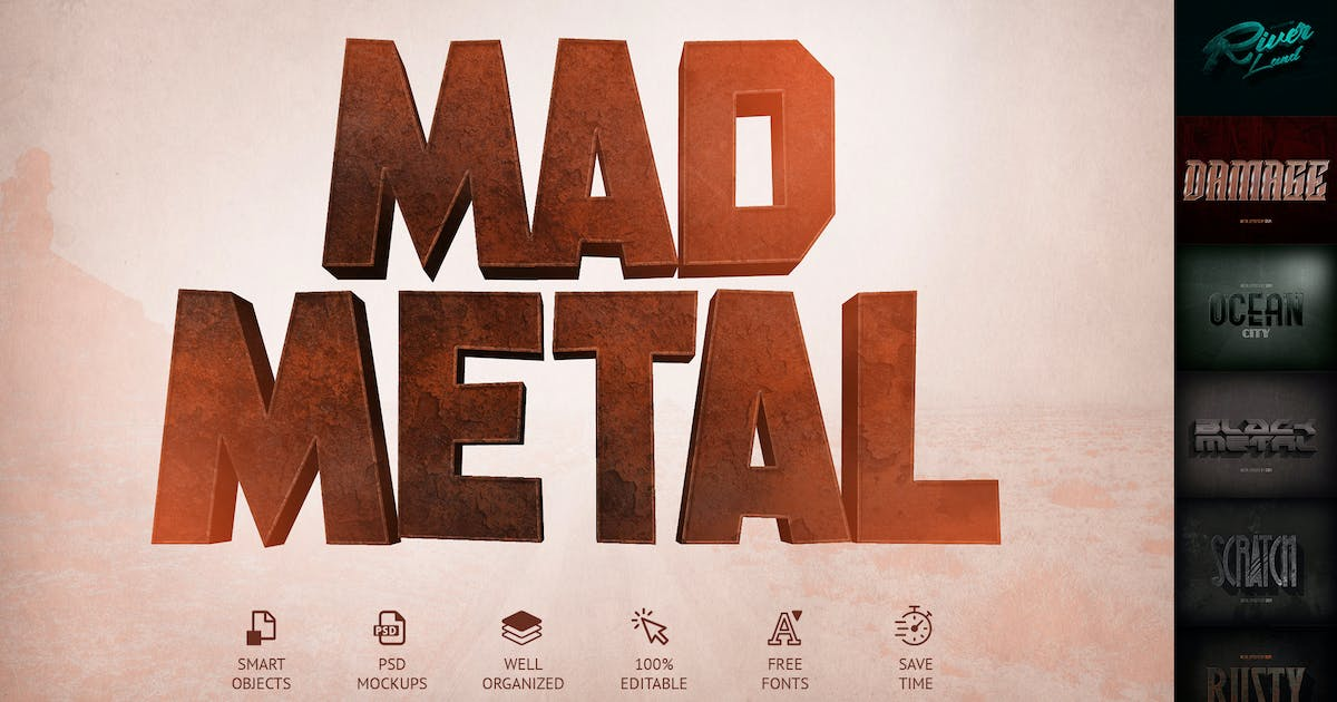 Download Mad Metal – Text Effects by Sko4