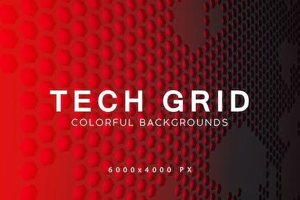 Technologie-Grid-Hintergründe