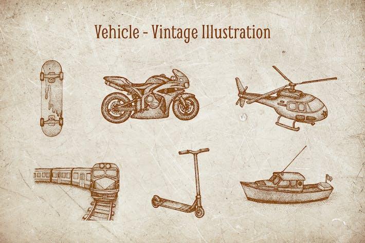 Thumbnail for Vintage Illustration - Vehicle V.2