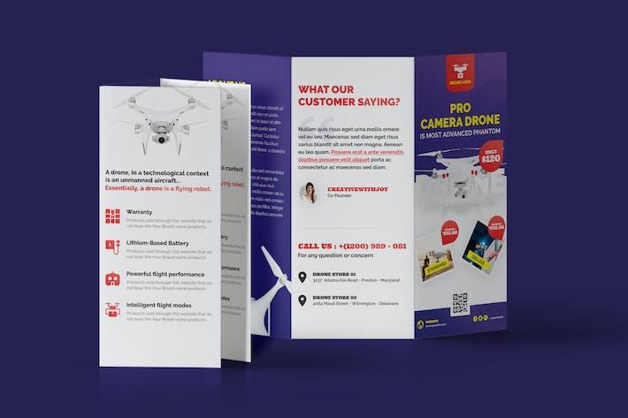 Thumbnail for Drone Product Showcase Tri-Fold Brochure