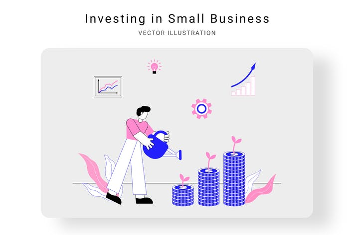 Thumbnail for Investing in Small Business Vector Illustration