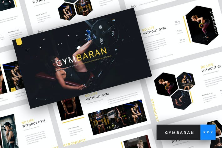 Thumbnail for Gymbaran - Gym Keynote Template