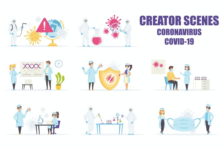 Thumbnail for Scene Creator Battle the Coronavirus COVID-19