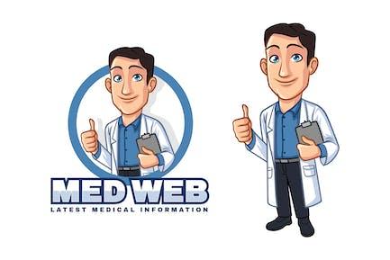 Cartoon Doctor - Medical Mascot Logo