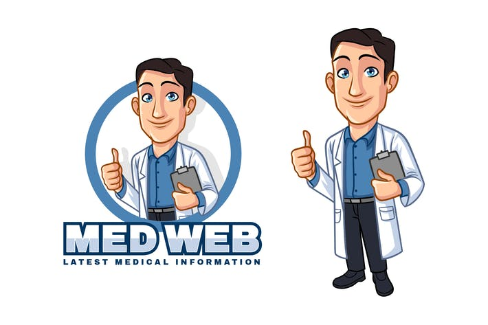 Thumbnail for Cartoon Doctor - Medical Mascot Logo