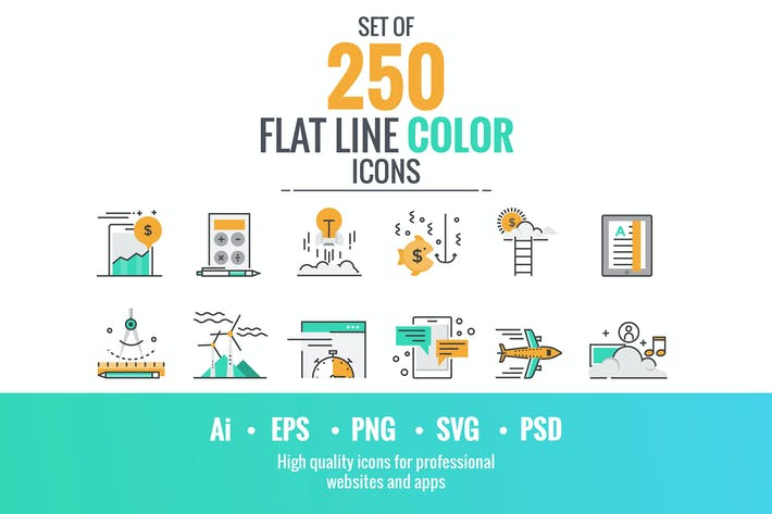 Thumbnail for These are big collection of flat line icons