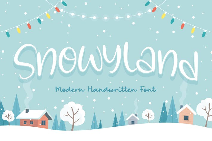 Snowyland - Fuente de escritura a mano YH