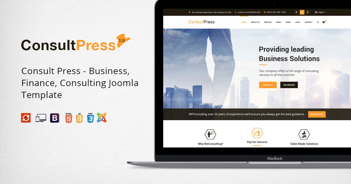 Download Consult Press - Finance, Consulting  Joomla Theme by JoomlaBuff