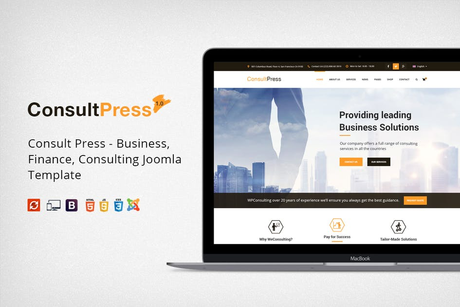 Download Consult Press - Finance & Consulting Business Joom by JoomlaBuff
