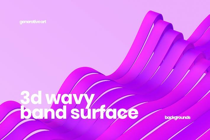 3D Wavy Band Surface