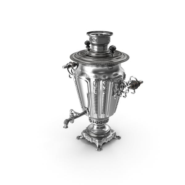 Russian Antique Silver Plated Samovar
