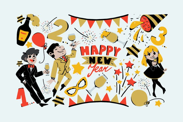 Thumbnail for New Year Joy Clipart