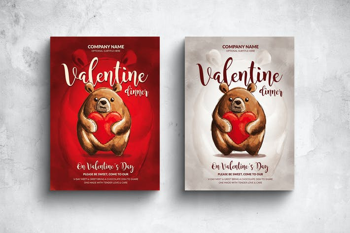 Thumbnail for Valentine Invitation Poster & Card - 2 Versions