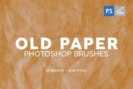 30 pinceles para sellos de papel viejo Photoshop