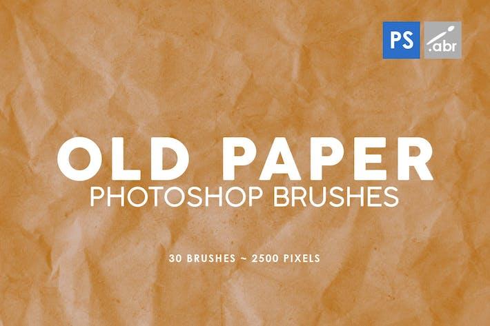 Thumbnail for 30 старых бумажных Кисти Photoshop