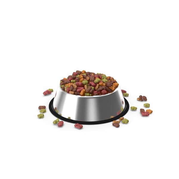 Dry Pet Food Stainless Steel Bowl