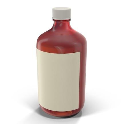 Botella de jarabe para la tos