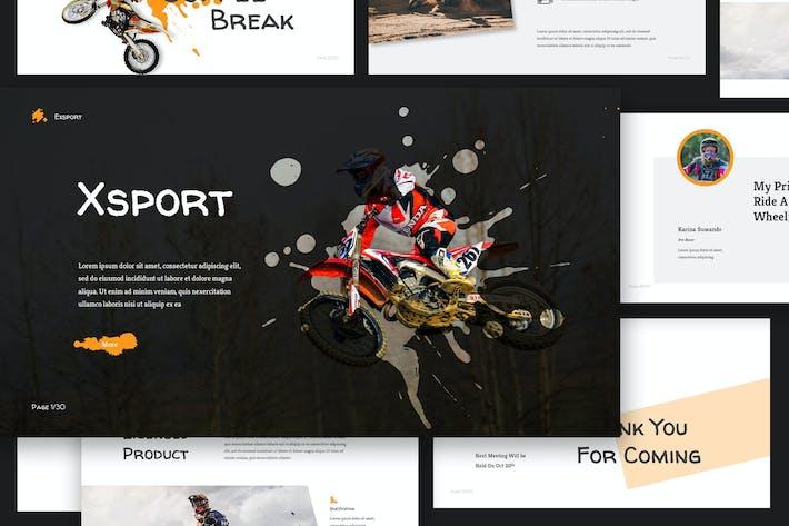 Thumbnail for Xtreme Sport Google Slides Presentation