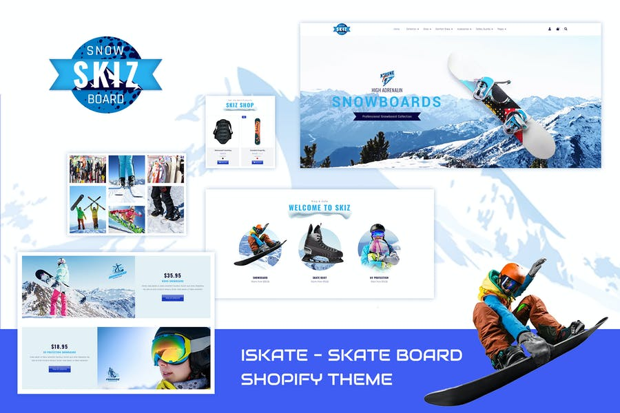 Skiz | Sports, Ski Boards Shopify Theme