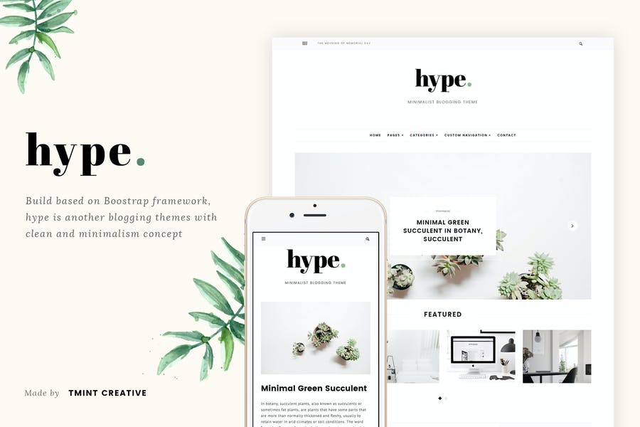 Hype - Minimal Grid Tumblr Theme