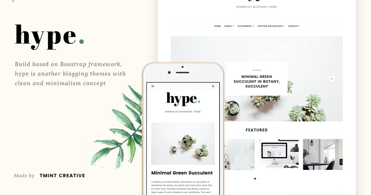 Download Hype - Minimal Grid Tumblr Theme by TMint
