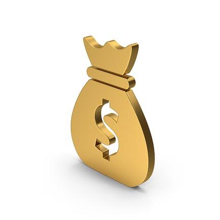 Symbol Money Bag Gold
