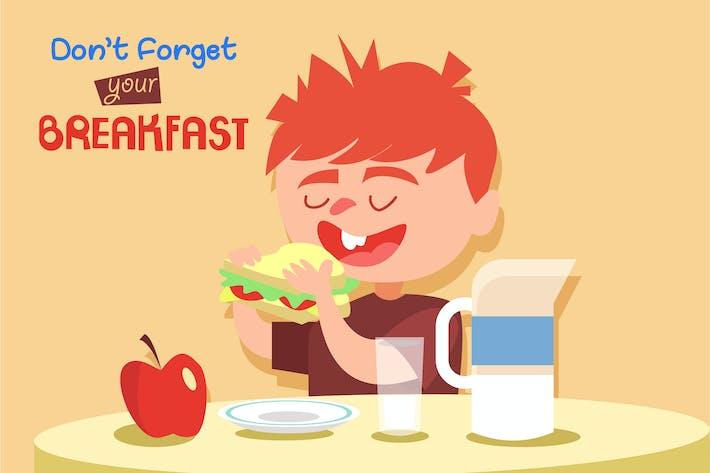 Thumbnail for Breakfast - Illustration Vecteur