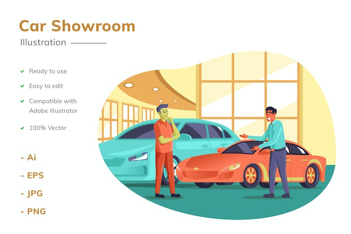 Thumbnail for Auto-Showroom Illustration
