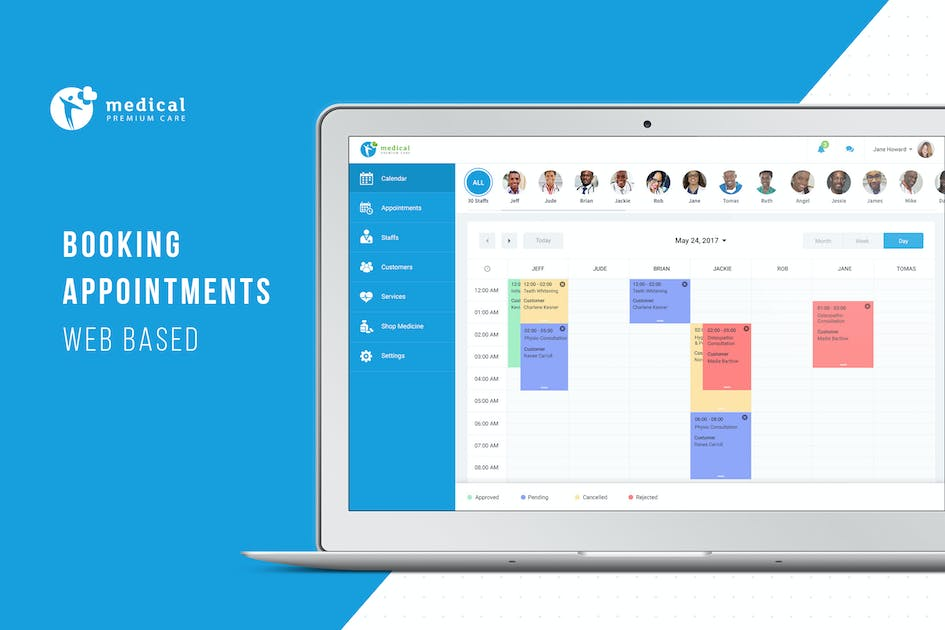 Download Booking Appointment Webbased UI Design by hoangpts