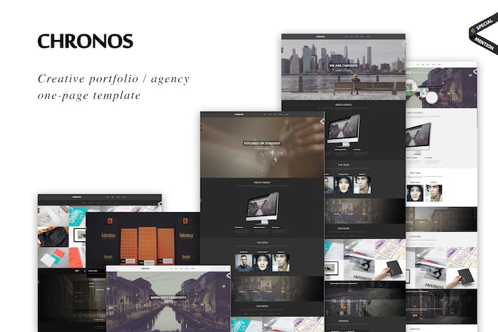 Cover Image For Chronos - Modèle HTML Parallax One Page