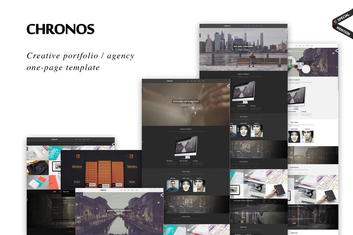 Thumbnail for Chronos - Parallax One Page HTML Template