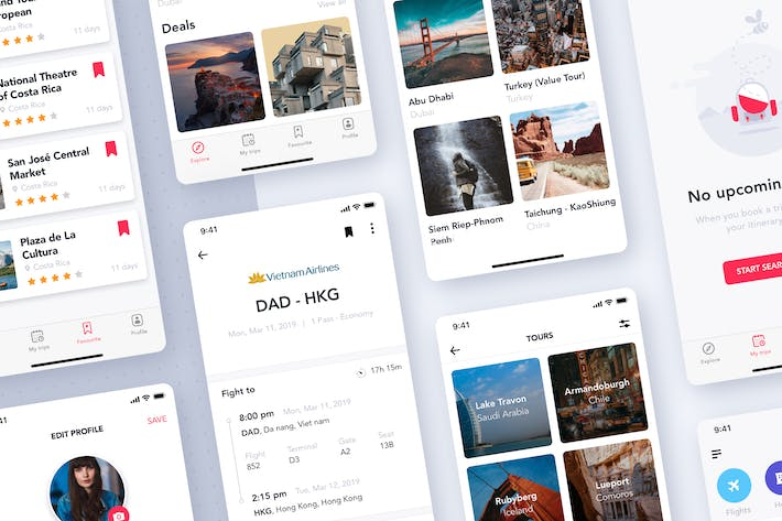 Thumbnail for Travel & ticket booking app
