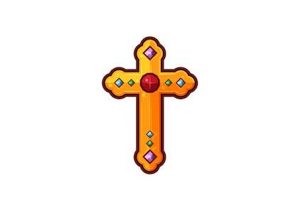 Golden Jewelled Cross