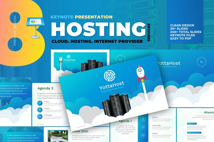 Thumbnail for Hosting Company Profile Keynote Template