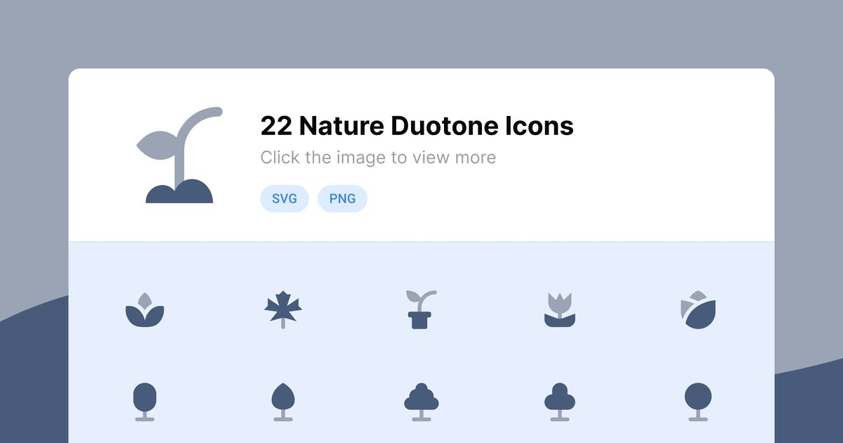 Download Nature Duotone Icons by roywj