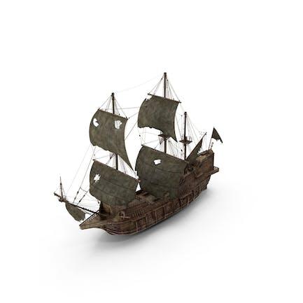 Piratenschiff getragen