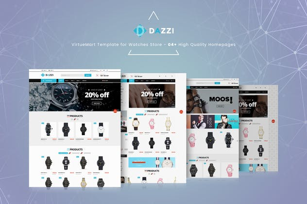 Dazzi - VirtueMart Template for Watches Store