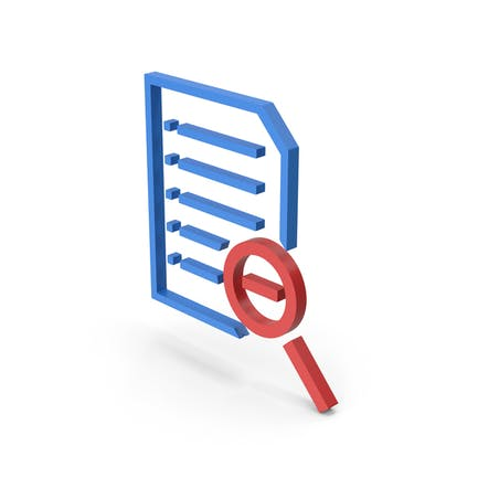 Document Zoom Out Symbol