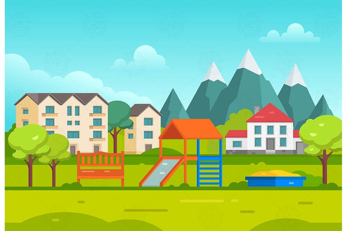 Thumbnail for Housing estate - vector illustration
