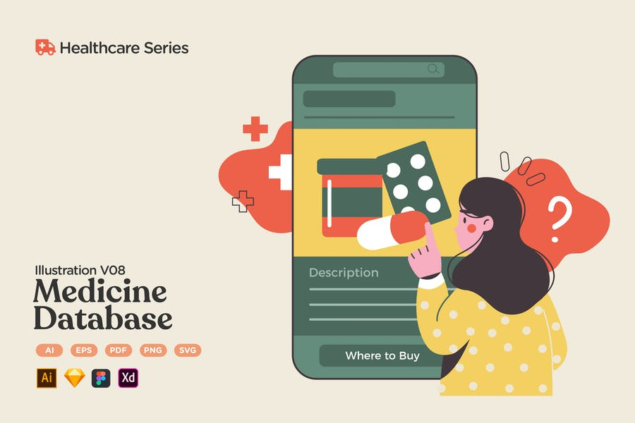 Healthcare V08 Medicine Pharmacy Database