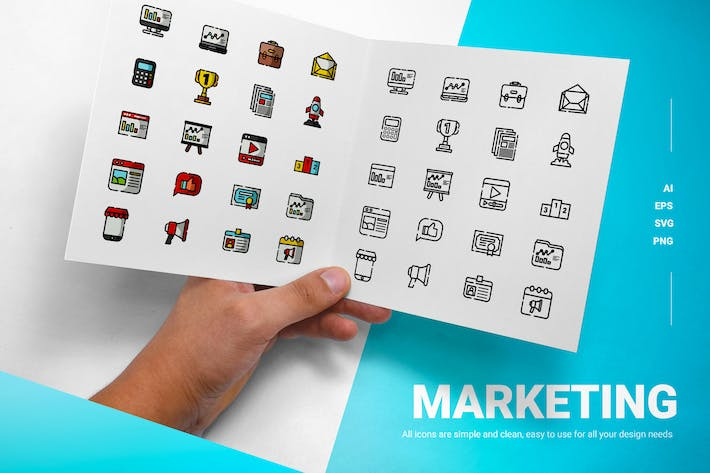 Thumbnail for Marketing - Icons