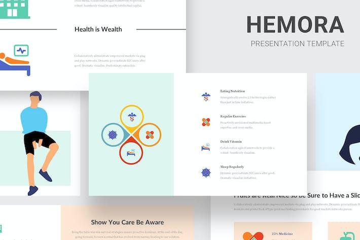 Thumbnail for Hemora - Healthcare Infographic Google Slides