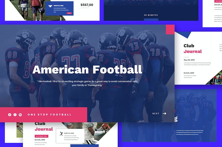 Thumbnail for American Football Google Slides Vorlage