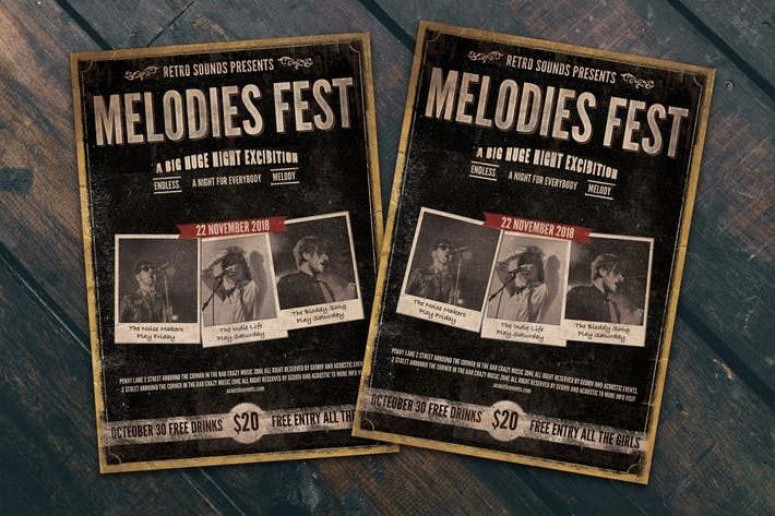 Thumbnail for Melodies Fest Flyer Poster