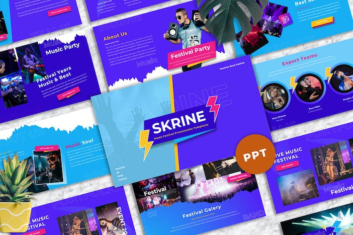 Thumbnail for Skrine - Music Festival Powerpoint Templates