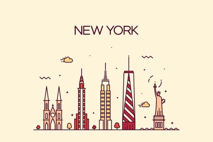 Thumbnail for New York skyline, United States