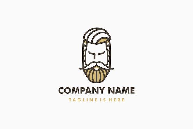 Beard And Moustache Man Logo